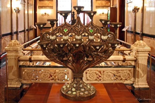 Benediction candelabra - Second floor Hall at Nickerson Mansion