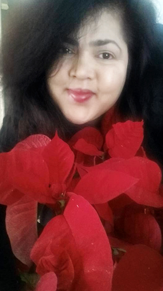 Selfie with Flower series: Poinsettia