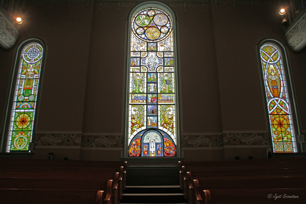 Stained glass windows - Faith, Hope and Charity - by Thomas A. 'Shaughnessy / Old St. Patrick's Church