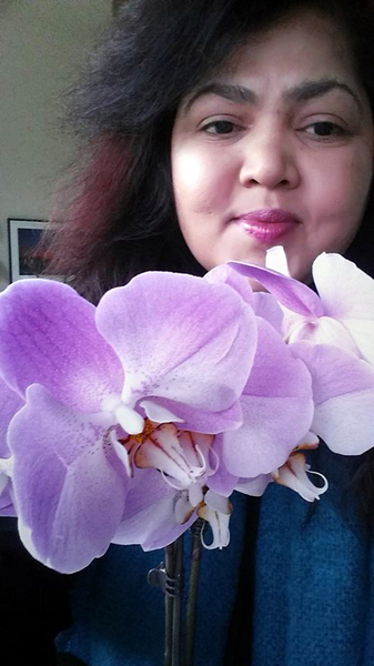 Selfie with Flower series: Orchid