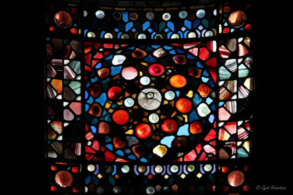 Stained glass window at Nickerson Mansion