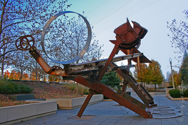Johnny Appleseed- by Mark di Suvero