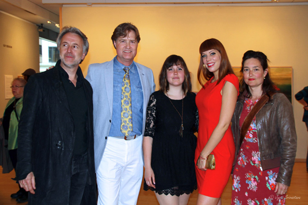 "2014: Opening Reception of ""The Western Veil"" / Julia Haw with friends."