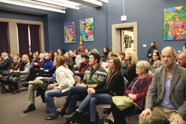 Audience at the lecture by Janet Austin and Nicole Beck / Women Sculptors of Chicago – Not for Men Only""