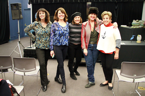 From left: Jill King, Janet Austin, Christine Rojek, Nicole Beck and Suzanne Cohan-Lange.