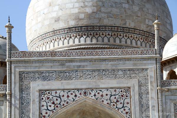 Taj Mahal: Calligraphy and Pietra dura