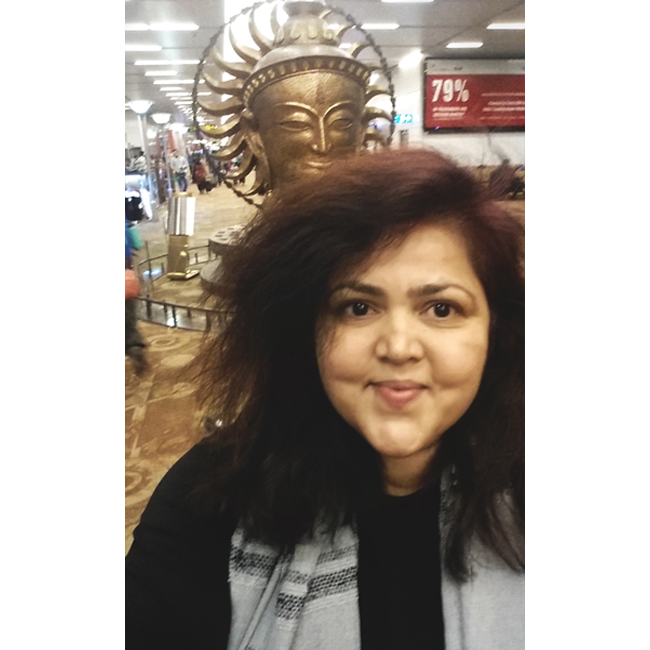 "Selfie with ""Surya, The Resplendid One"" - by Satish Gupta"