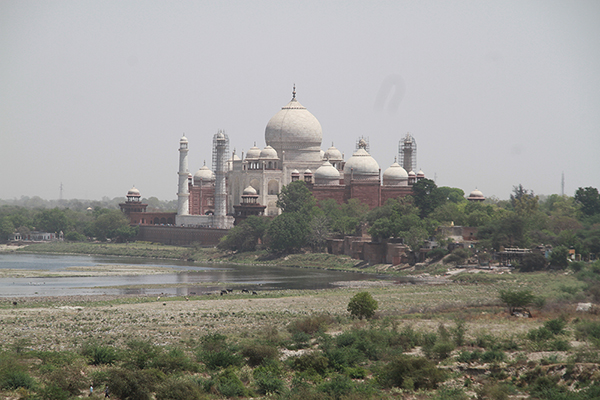 View of Taj Mahal, from Musamman Burj at Agra Fort.
