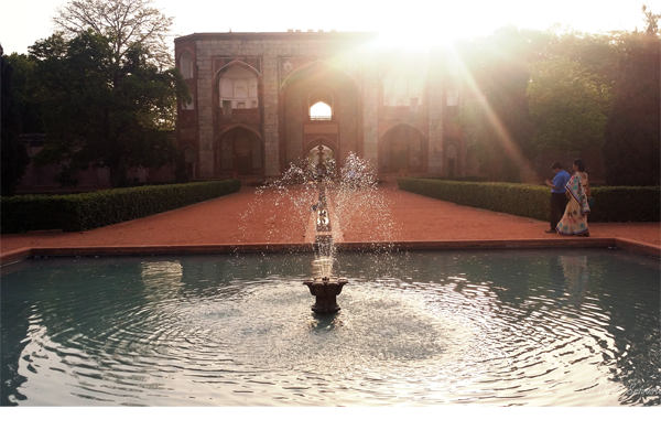 Charbagh Garden - Fountains at the end of water channels  -  a remarkable engineering innovation for the time.