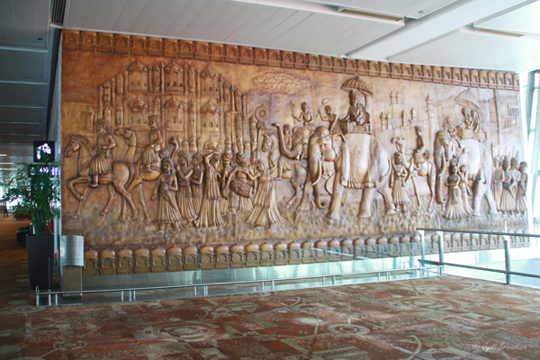 Regal procession: Rajasthan / Delhi Airport
