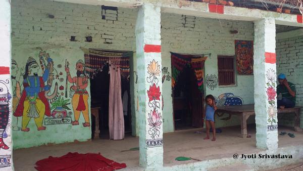 Madhubani Art - Ranti Village / Dulari devi residence