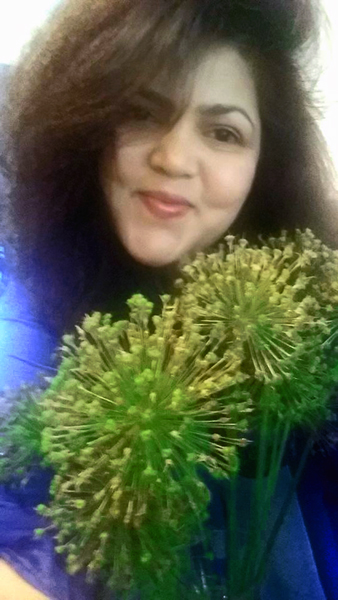 2016 Selfie with Flower series: Alliums