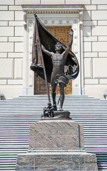 Pro Patria - by Henry Hering /  Indiana World War Memorial