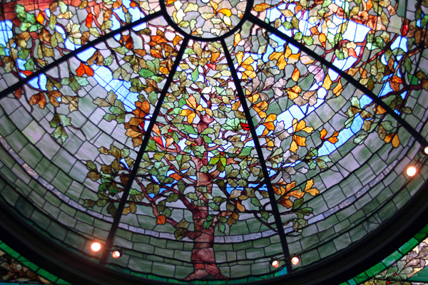 Stained glass dome at Driehaus Museum/ Nickerson Mansion