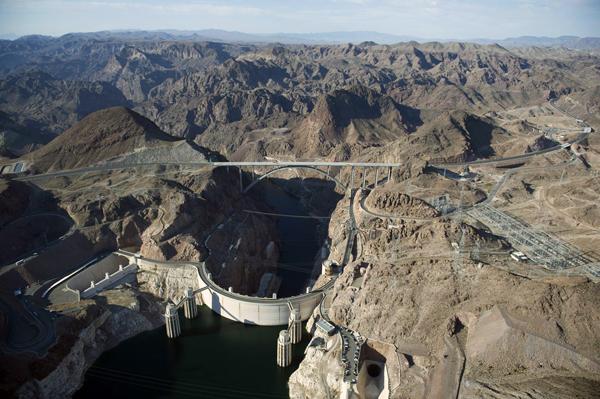 Hoover Dam and Mike O'Callaghan - Pat Tillman Memorial Bridge./ Image courtsey HRD Inc.