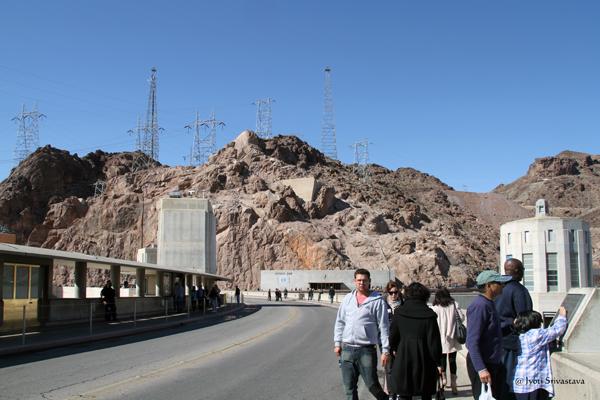Hoover Dam between Nevada and Arizona