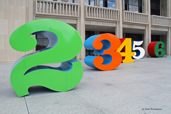 Numbers - by Robert Indiana . Indiana Museum of Art