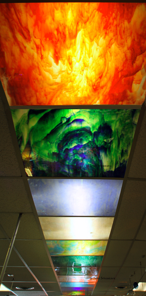 The remarkable ceiling / Gift Shop - Kokomo Opalescent Glass