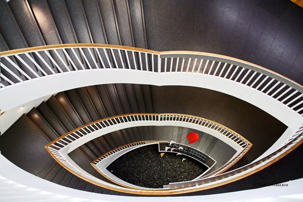 MCA Staircase by Josef Paul Kleihues