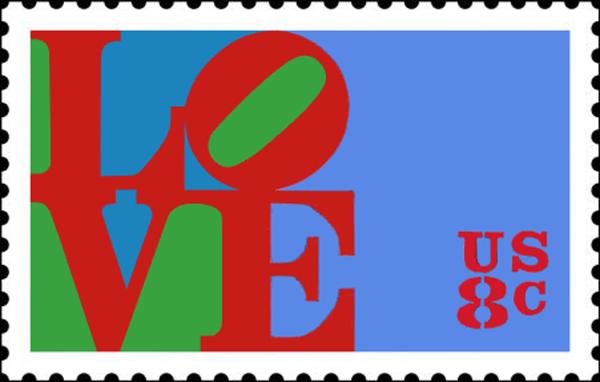 Love Postal Stamp