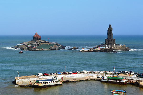 Vivekananda Rock Memorial, Kanyakumari / Image by Ravivg5 via Wikimedia Creative Commons.