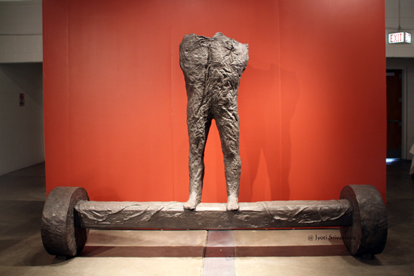 The Son of a Gigant [2003] - by Magdalena Abakanowicz.