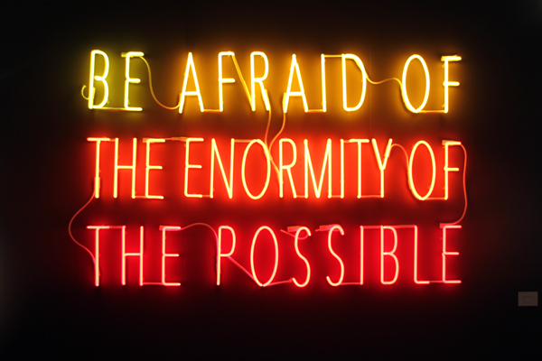 Be Afraid of the Enormity of the Possible [ 2015 ] - by Alfredo Jaar