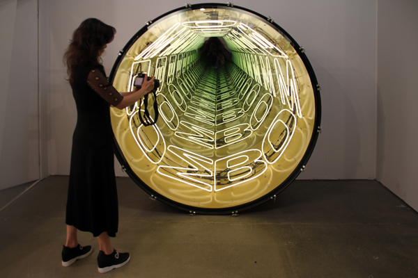 Bomb Bomb Bomb - by Ivan Navarro / Paul Kasmin Gallery, New York.