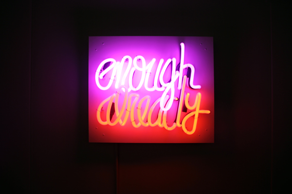 Enough Already [2012] - by Deborah Kass / PK Shop, New York.