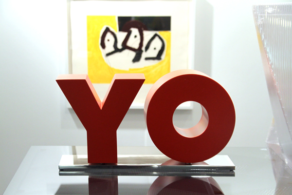 OY and YO [ 2011] - by Deborah Kass / PK Shop, New York.