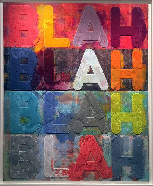 Blah, Blah, Blah [2015] - by Mel Bochner /  William Shearburn Gallery