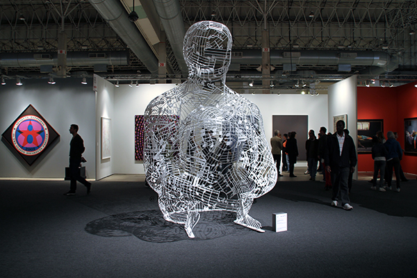 Silent Music - by Jaume Plensa / Richard Gray Gallery / EXPO Chicago 2012.