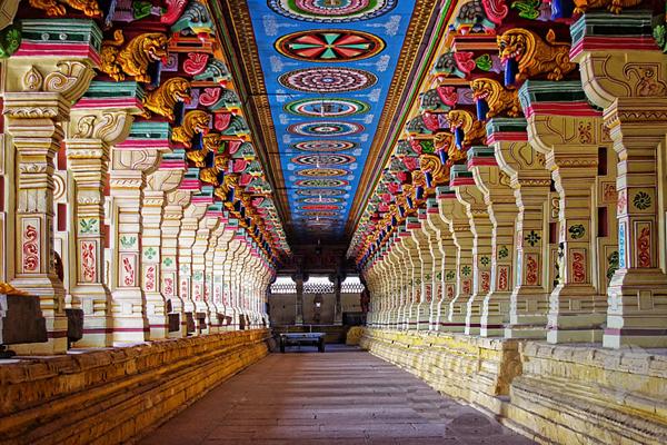 Ramanathaswamy Temple, Tamil Nadu / Image coutesy Rameshwaram Tourism.
