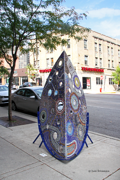 Astroterra - by Nicole Beck  / 2016 Art on Clark /  2662 N. Clark Street