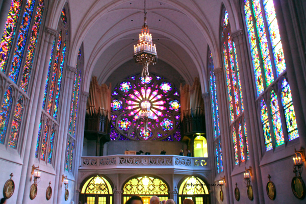 Rose Window - Saint James Chapel at the Archbishop Quigley Cente