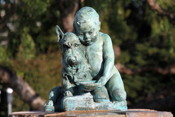 Boy and Dog - by Ruth Peabody
