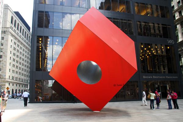 Red Cube - by Isamu Noguchi