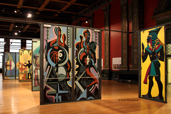 Eugene Eda's mural doors for Malcolm X College