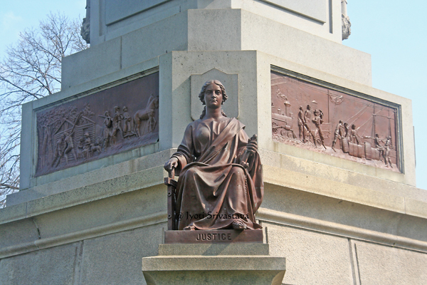 Douglas Memorial - by Leonard W. Volk / Designated Chicago landmark in 1977.