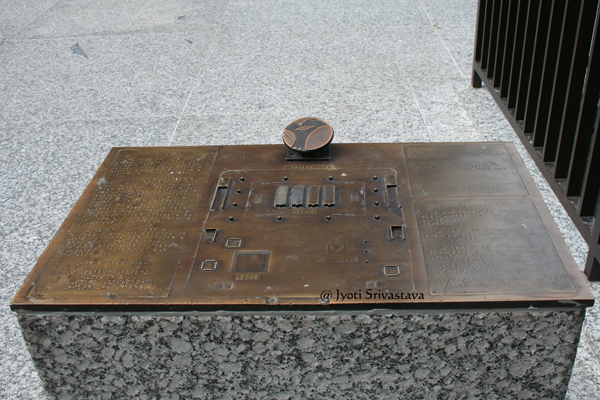 Map for visually impaired /  Daley Plaza