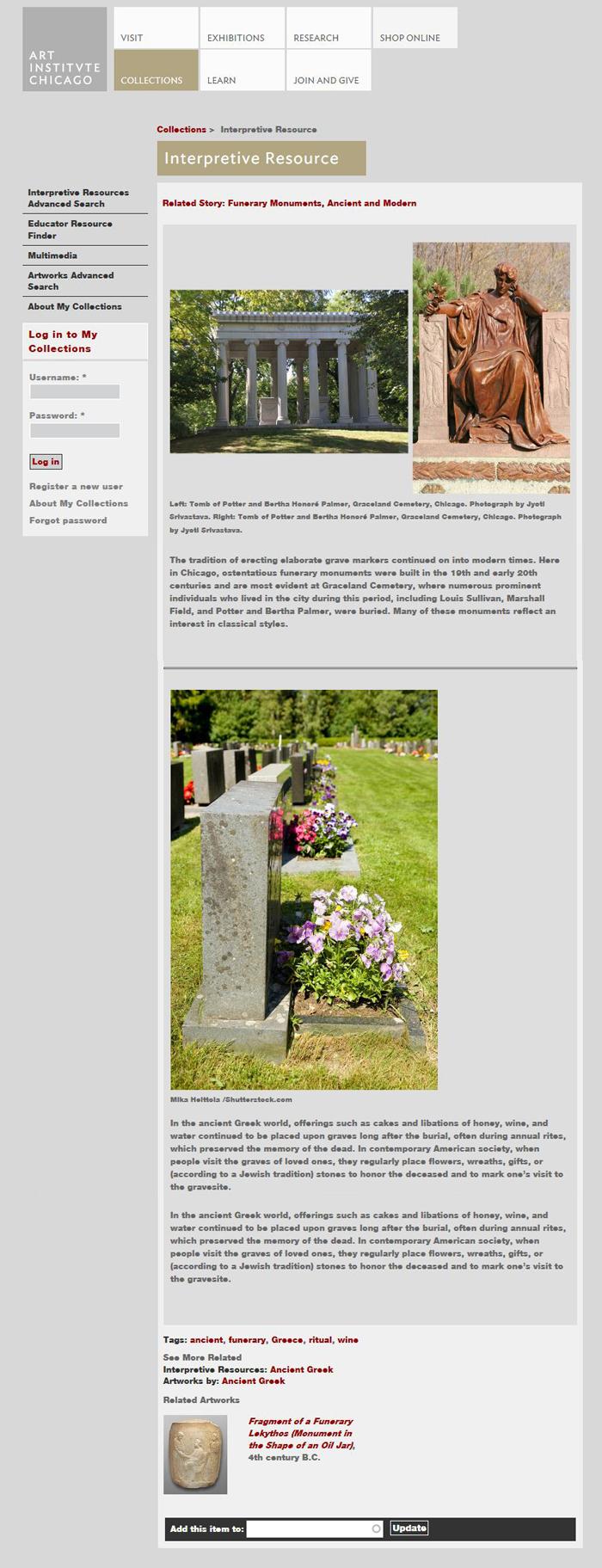 2014: AIC Website / Interpretive Resources