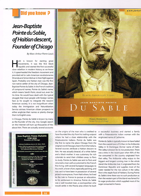 2014: Desti-Nation: A Haitian Magazine, with article on Dusable