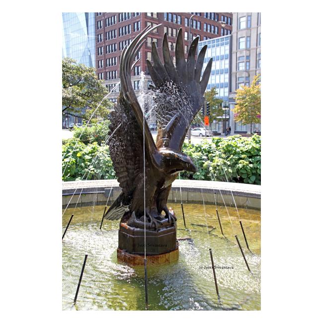 Japanese Inspired Garden In Grant Park: Chicago: Grant Park / Eagle Fountains