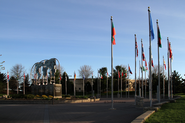 Court of Flags / Keeling-Puri Peace Plaza, Rockford