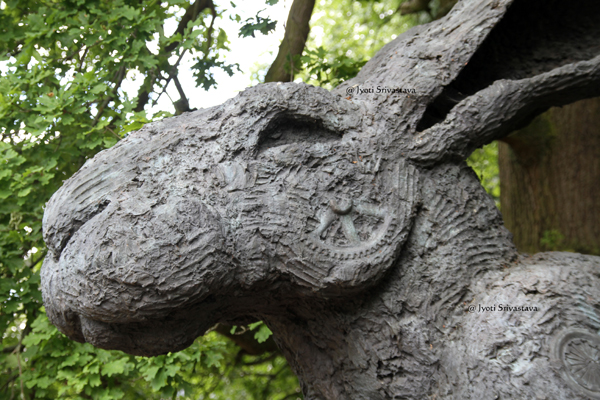 Crawling Lady-Hare - by Sophie Ryder