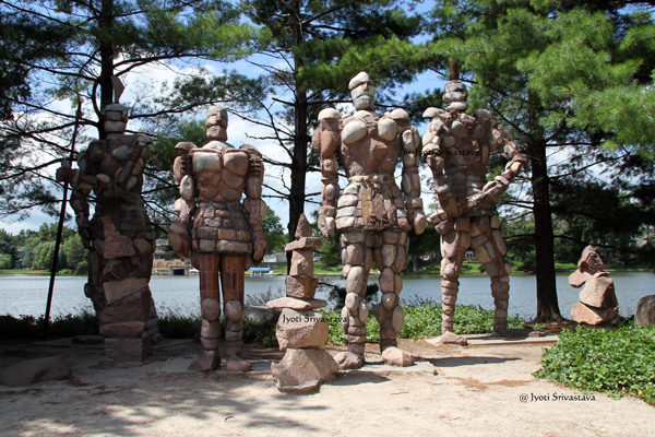 Rock Men Guardians - by Terese Agnew