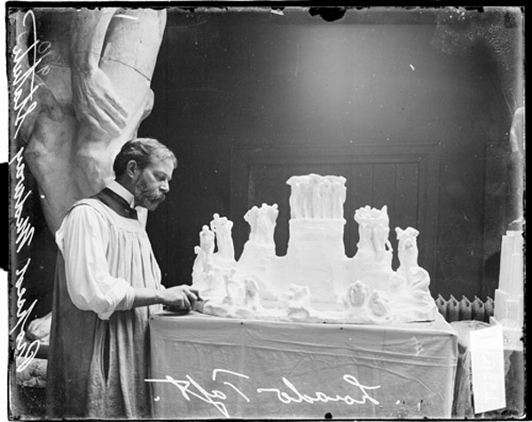 Scale model for the  Fountain of Creation - by Lorado Taft