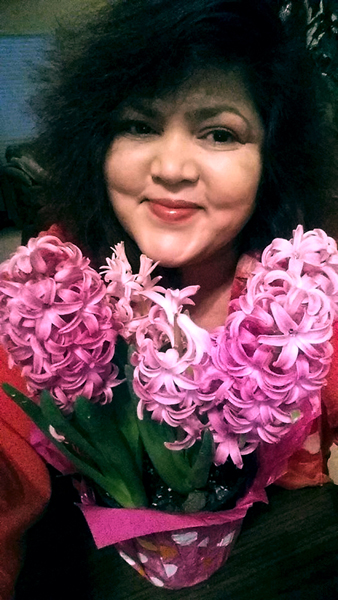 2017 Selfie with Flower series: Hyacinth