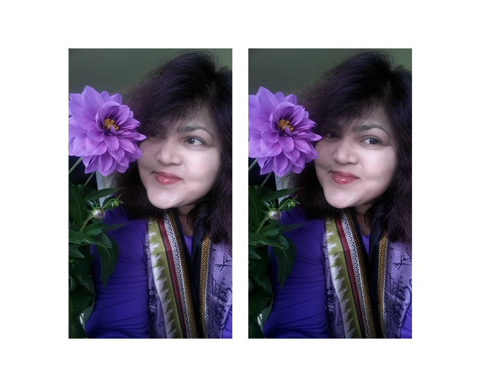2017 Selfie with Flower series: Dahlia