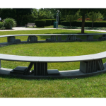 Reading Garden Book Bench - by David B. Melchert / Batavia Public Library